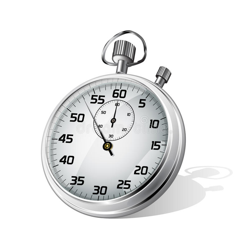 Chronomètre de vecteur illustration libre de droits