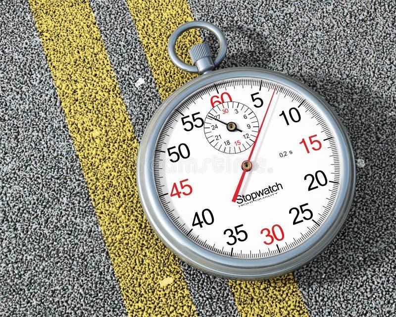 Download Chronomètre En Acier Sur La Route Illustration Stock - Illustration du compteur, rapide: 56479943
