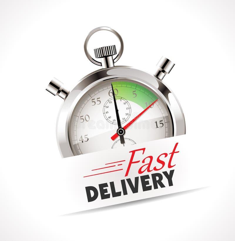 Chronomètre - la livraison rapide illustration de vecteur