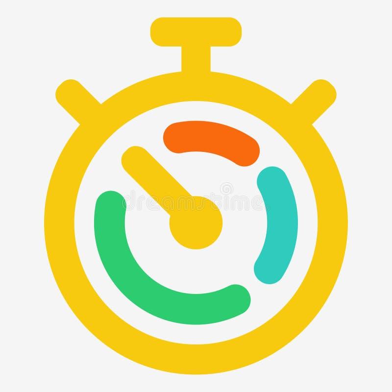 Chronomètre, le temps, c'est de l'argent illustration de vecteur