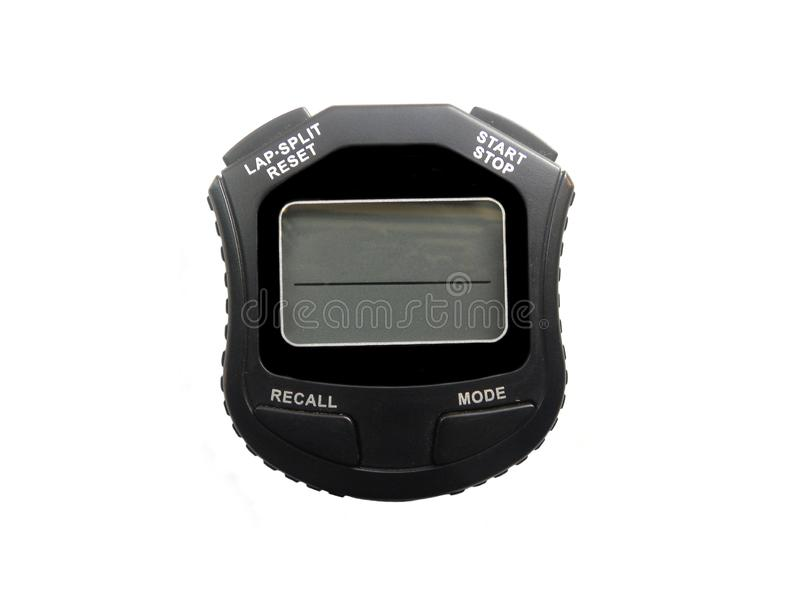 Chronomètre noir de Digital de couleur photographie stock libre de droits