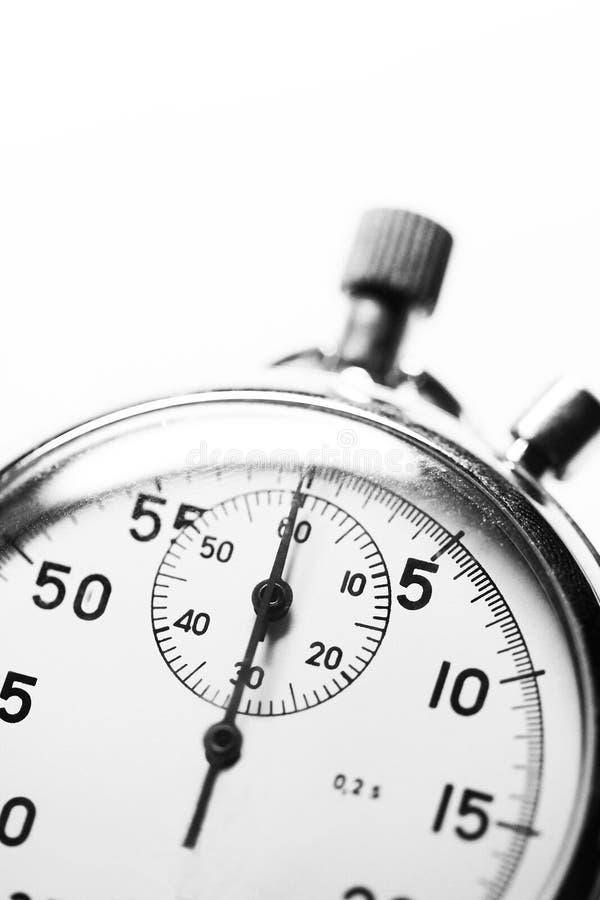 Download Chronomètre noir et blanc image stock. Image du fini - 77157767