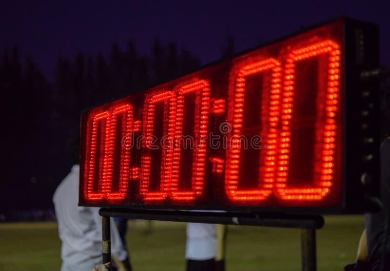Chronomètre pour sportif images libres de droits
