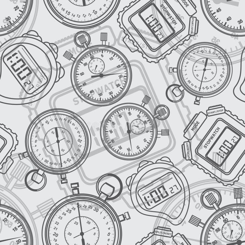 Chronomètre. Sans couture. illustration de vecteur