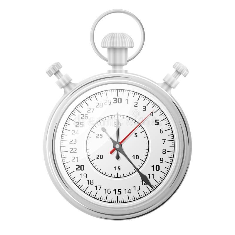 Chronomètre sur le fond blanc illustration de vecteur