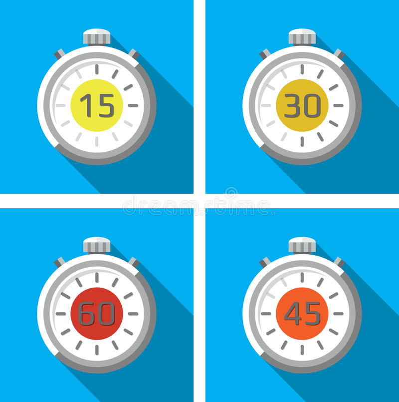 Chronomètres/minuteries illustration de vecteur