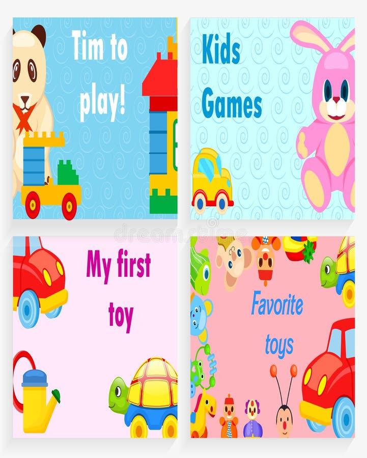 Chronométrez pour jouer, des jeux d'enfants, mon premier jouet préféré illustration libre de droits