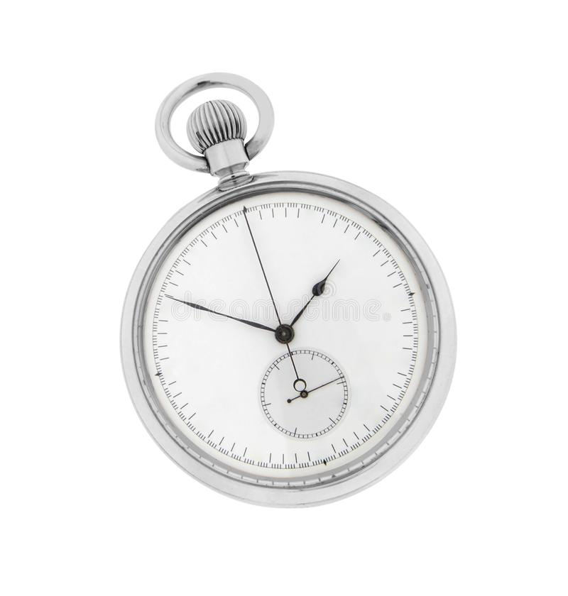Chronometer die op wit wordt geïsoleerdl royalty-vrije stock afbeelding