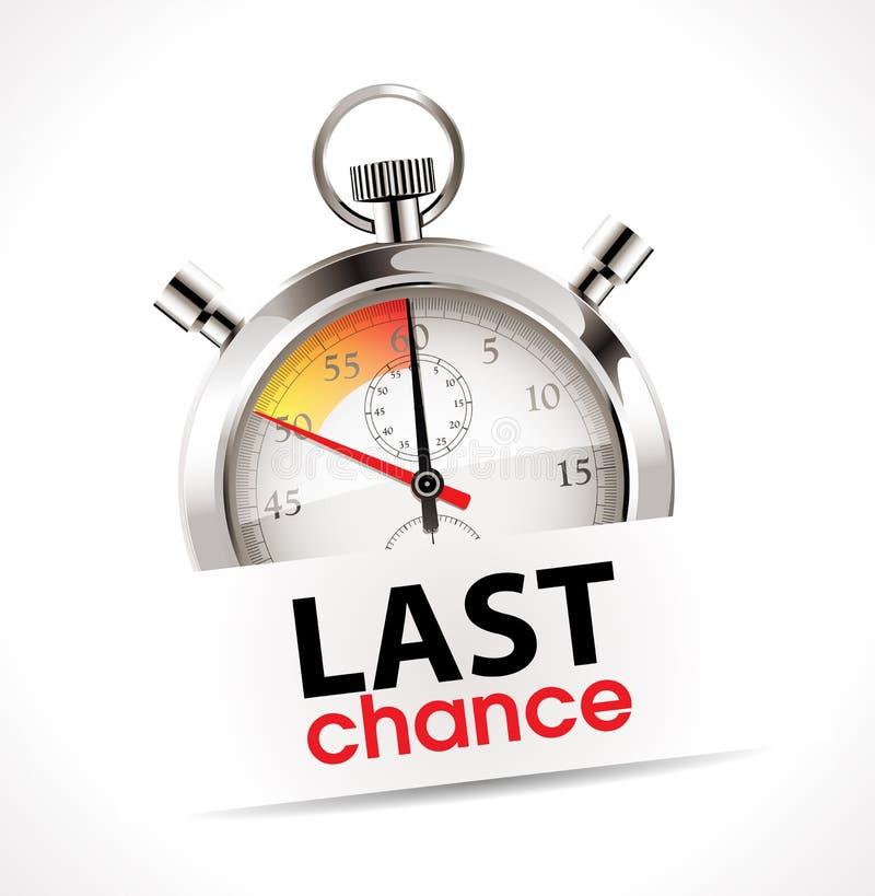 Chronometer - laatste kans vector illustratie