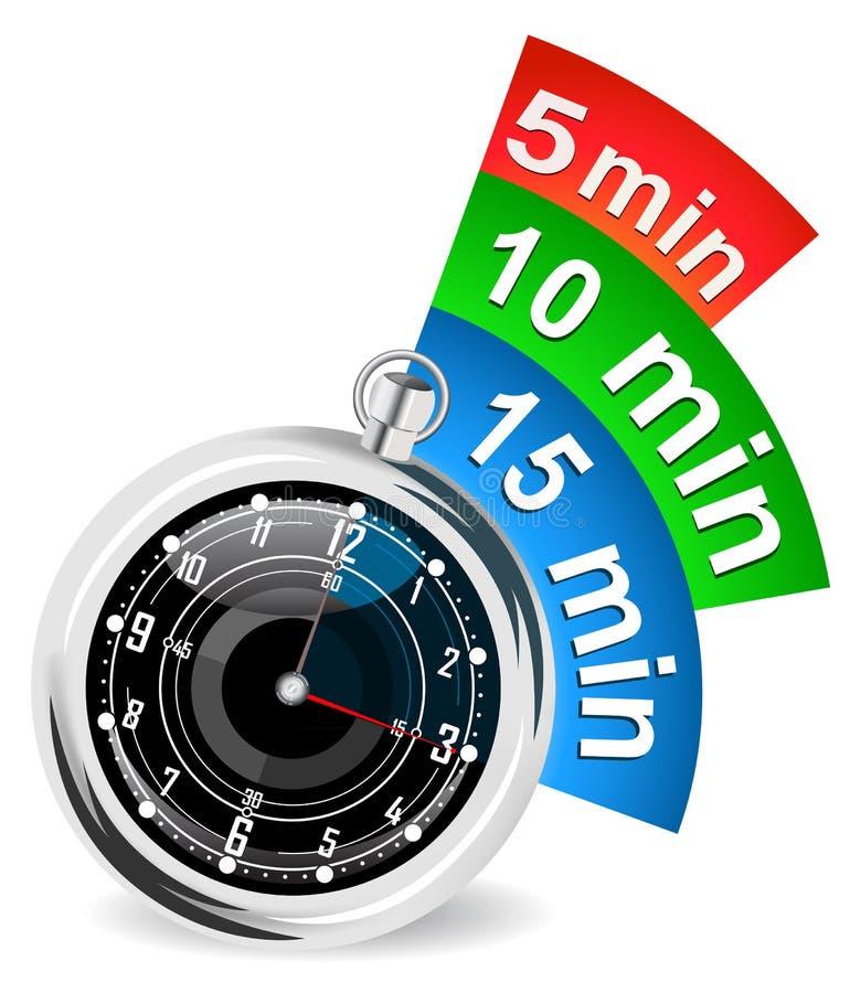 Chronometer met referentie vectorillustratie stock illustratie
