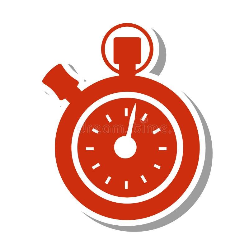 Chronometer in tegenovergestelde richting geïsoleerd pictogram stock illustratie