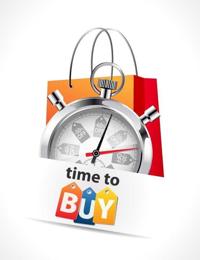Chronometer - Tijd te kopen stock illustratie