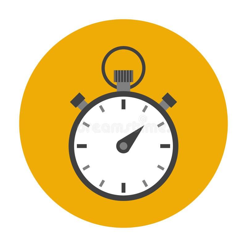 Chronometer vlak pictogram royalty-vrije illustratie