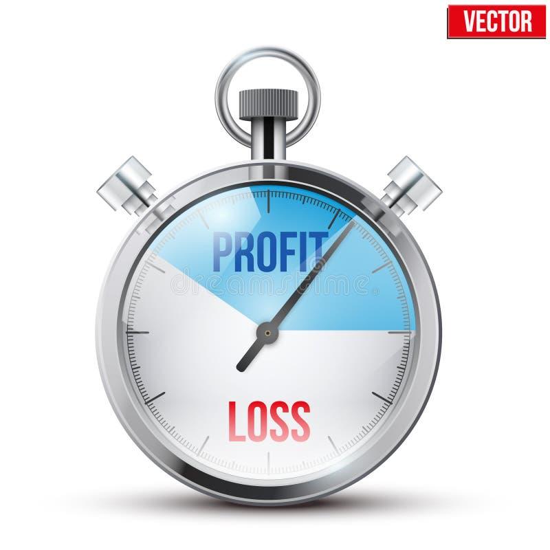Chronometer voor forex handelaar vector illustratie