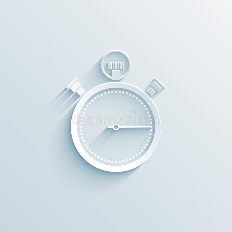 Chronometerdocument pictogram stock illustratie