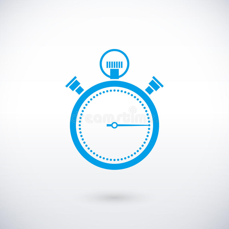 Chronometerpictogram stock illustratie
