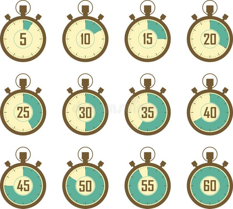 Chronometerpictogrammen vector illustratie