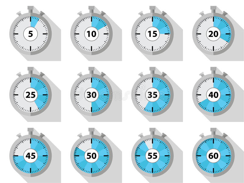 chronometers vector illustratie