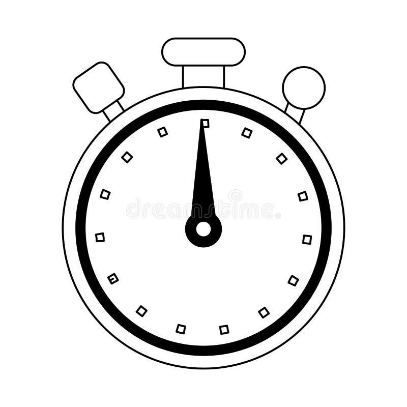 Chronometertimer-Symbol lokalisierte Schwarzweiss lizenzfreie abbildung