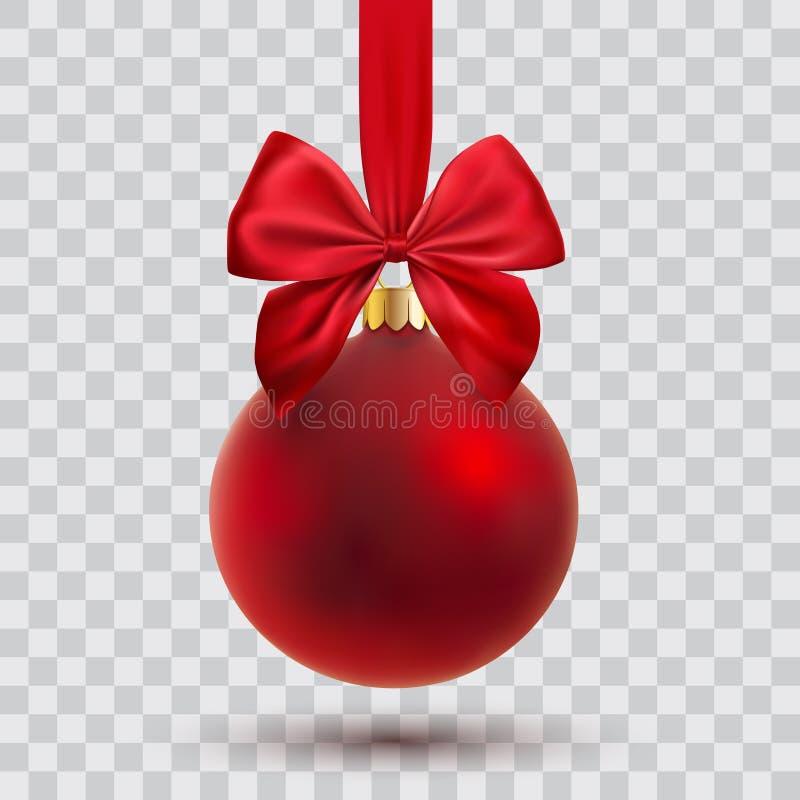 Vector Christmas ball. Chrstmas ball with ribbon and bow, vector illustration vector illustration