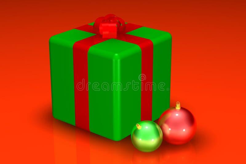 Chrstmas Geschenk und Dekorationen stock abbildung