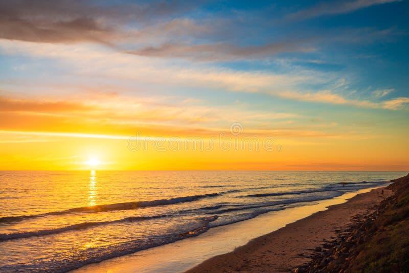 Chrties Beach bei Sonnenuntergang, Südaustralien lizenzfreie stockbilder