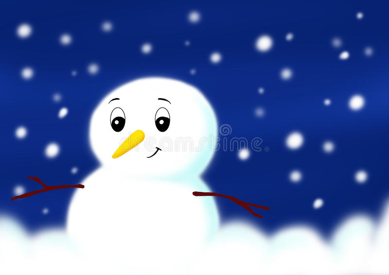 Download Chrtismas, snowman stock illustration. Image of cold, snowman - 9821251