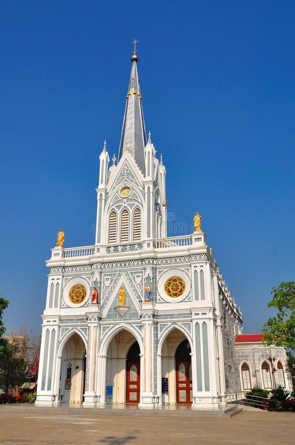 Chruch chrétien dans Samutsongkram de la Thaïlande photos stock