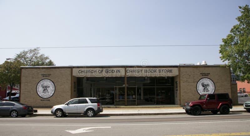 Chruch do deus em livrarias de Cristo foto de stock royalty free