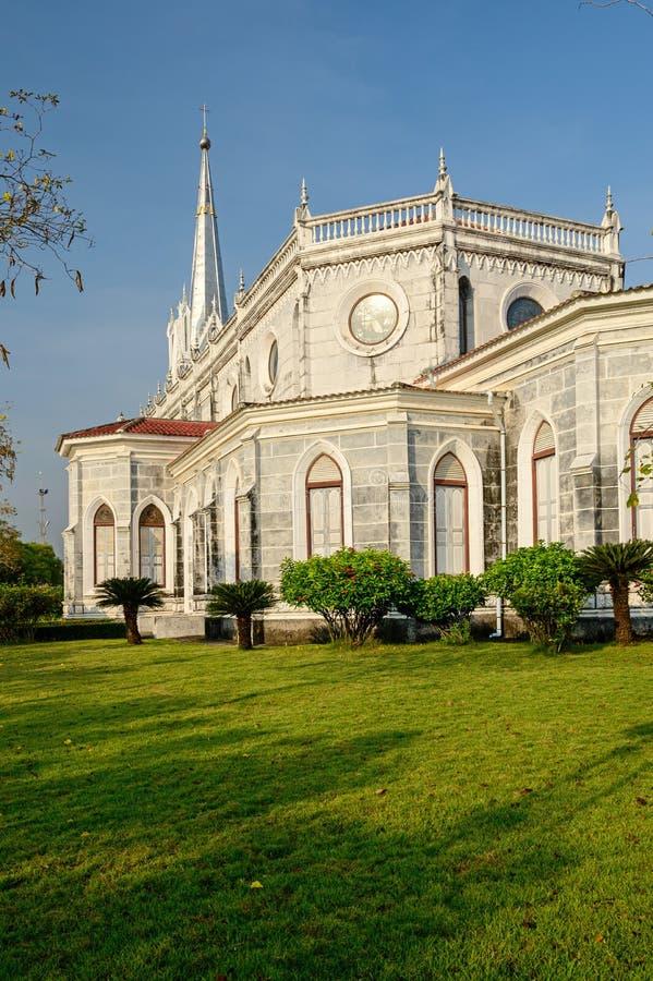 Chruch gothique dans Ratchaburi de la Thaïlande photos libres de droits