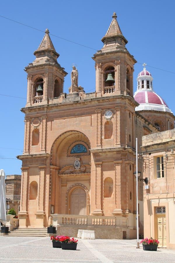 Chruch in Marsa Slok, Malta royalty-vrije stock afbeeldingen