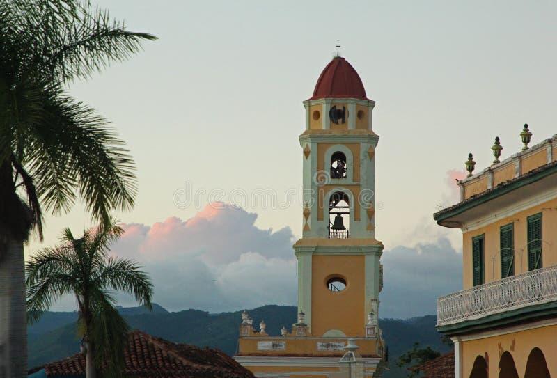 Chruch torn i Trinidad, Kuba royaltyfri bild
