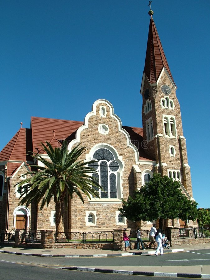Chruch in Windhoek stock image