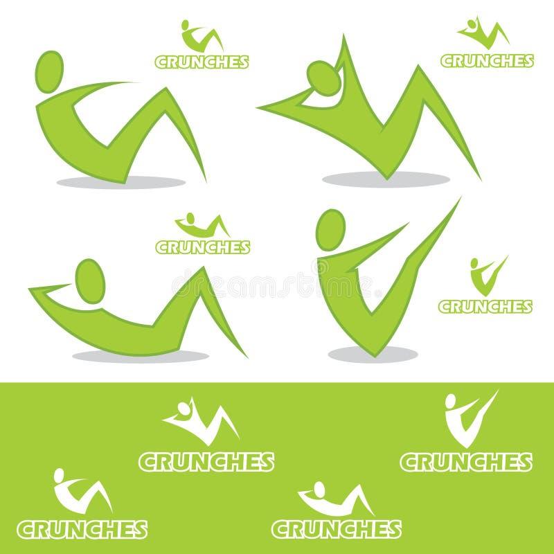 Download Chrupnięcie ikony ilustracja wektor. Obraz złożonej z emblemat - 26576871