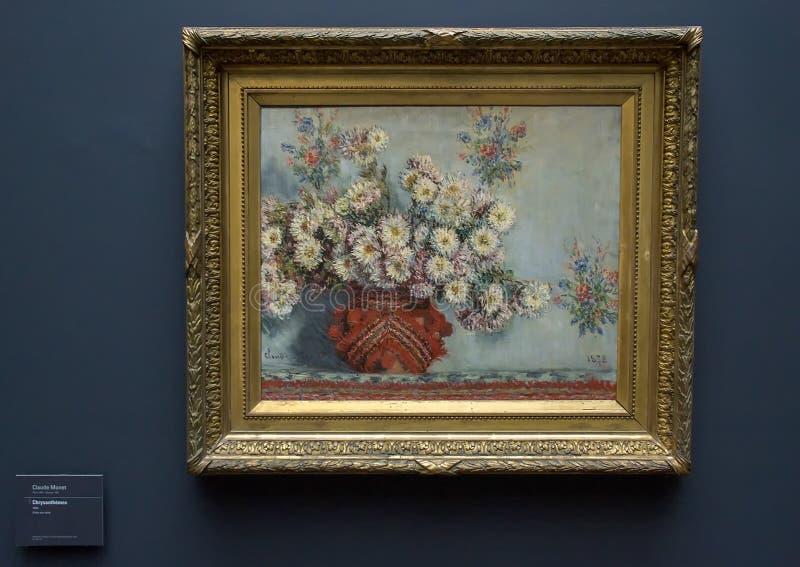 Chrysanthemen, durch Claude Monet, 1878 stockfotografie
