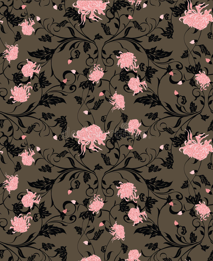 Chrysanthemum flower pattern vector illustration