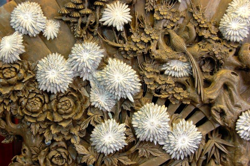 Chrysanthemum on stone royalty free stock images