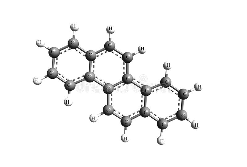 Chrysene or Benzo[a]phenanthrene 1,2-Benzphenanthrene. Chrysene is a polycyclic aromatic hydrocarbon PAH with the molecular formula C 18H12. that consists of vector illustration