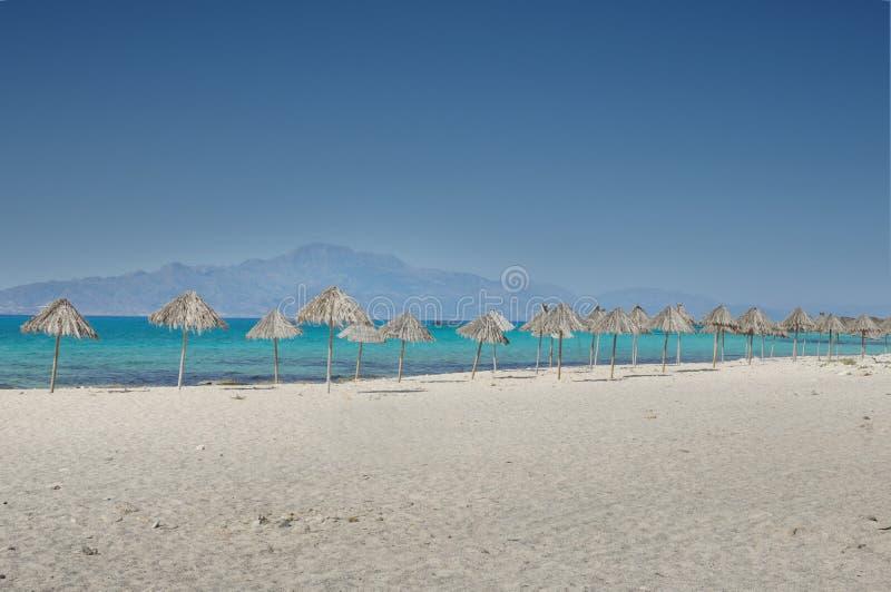 Chrysi island, Greece royalty free stock photos