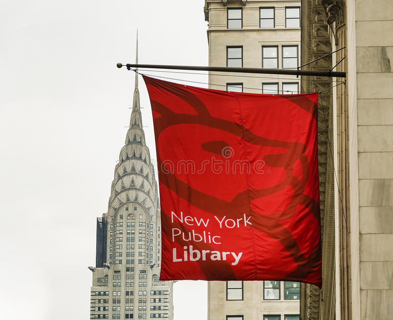 Chrysler budynek i nowa York biblioteka publiczna obrazy royalty free