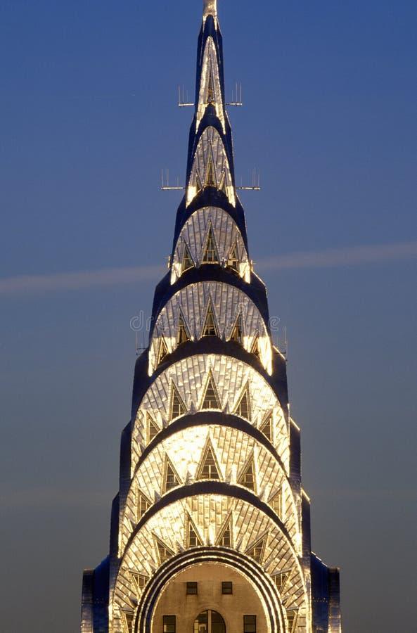 Chrysler budynek przy zmierzchem, Miasto Nowy Jork, NY zdjęcie stock