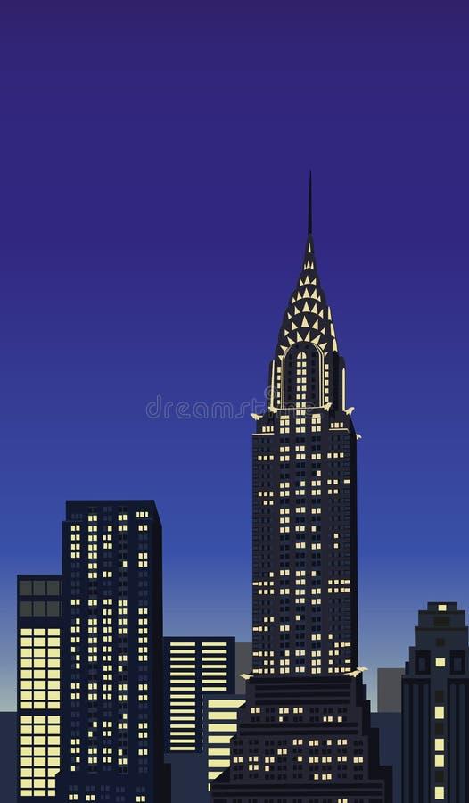 Chrysler Building stock illustration