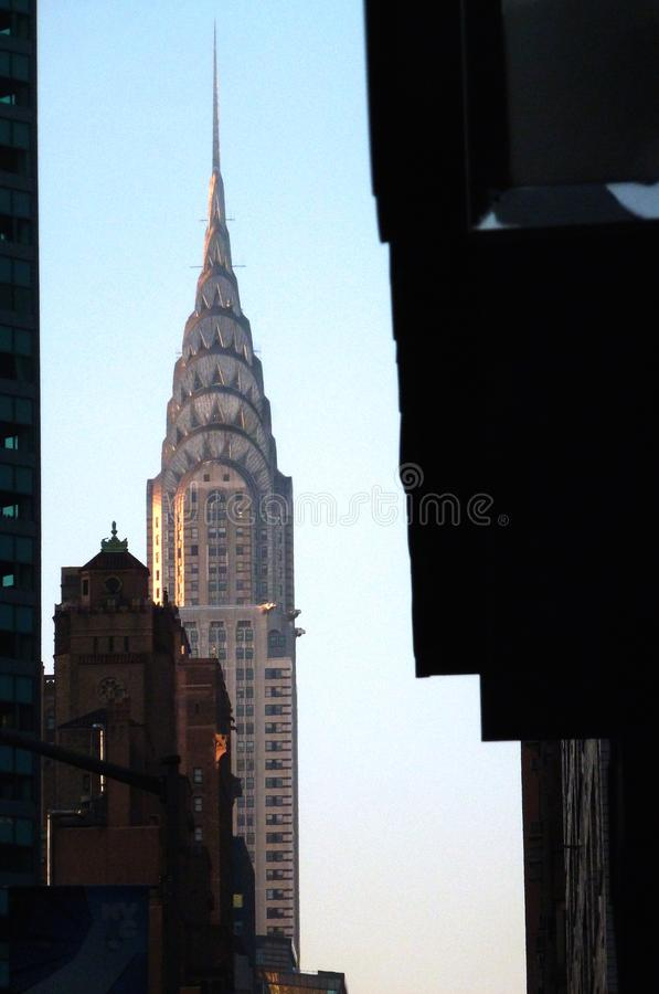 Chrysler Building at dawn royalty free stock images