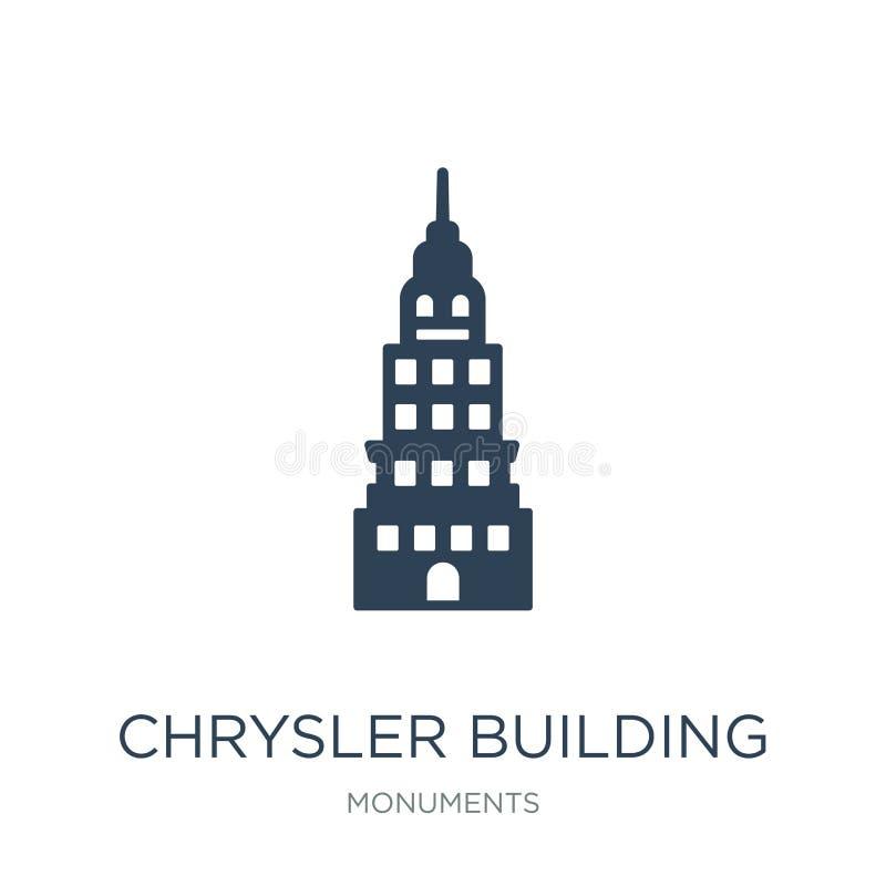 Chrysler building icon in trendy design style. chrysler building icon isolated on white background. chrysler building vector icon. Simple and modern flat symbol royalty free illustration