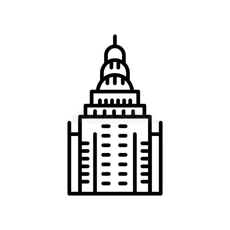 Chrysler Building icon vector isolated on white background, Chrysler Building sign , line or linear sign, element design in. Chrysler Building icon vector stock illustration