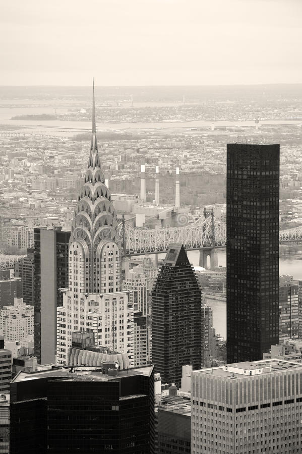 Chrysler Building in Manhattan New York City stock photography