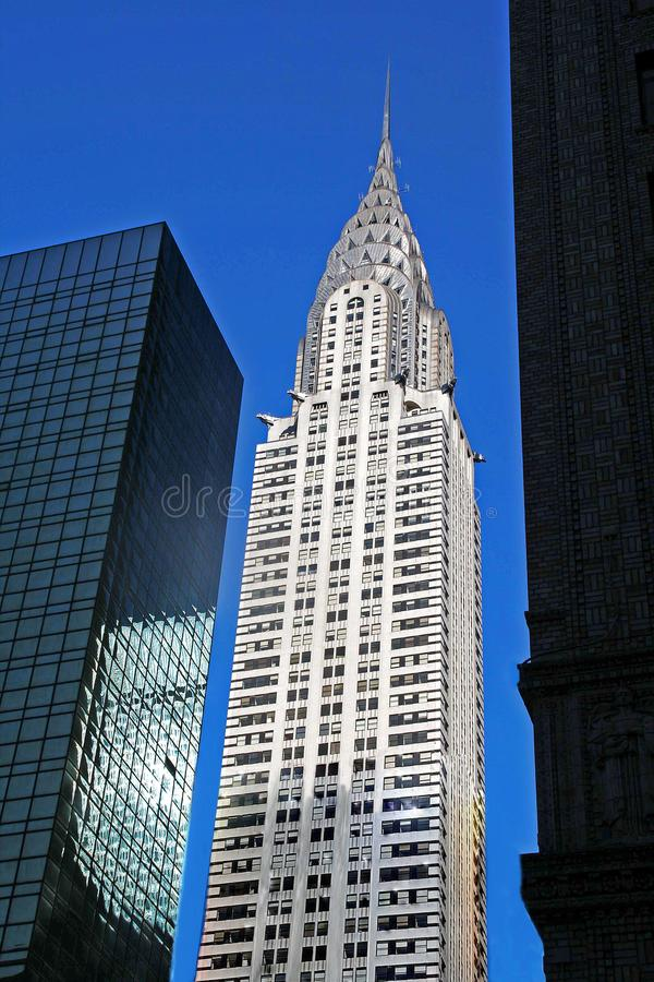 Chrysler Building - New York, New York. The Chrysler Building is an Art Deco style skyscraper located in Manhattan, New York City, N.Y.  At 1046 feet the stock images