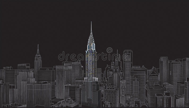 Chrysler building royalty free illustration