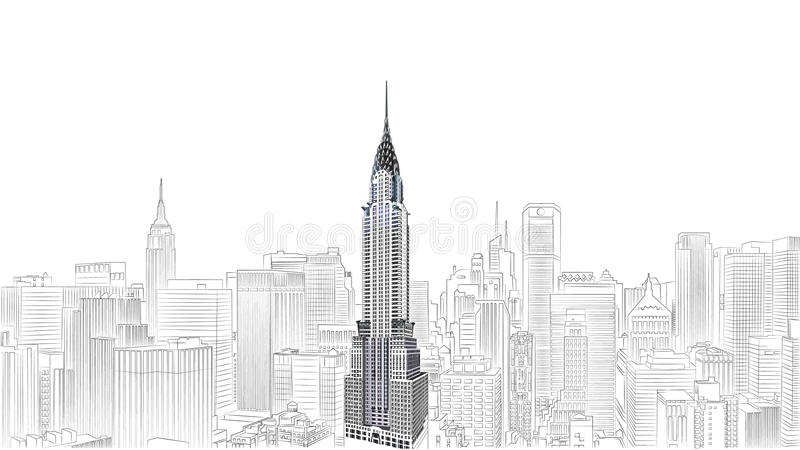 Chrysler building. NEW YORK CITY The Chrysler building was the world's tallest building (319 m) before it was surpassed by the Empire State Building in 1931, on stock illustration