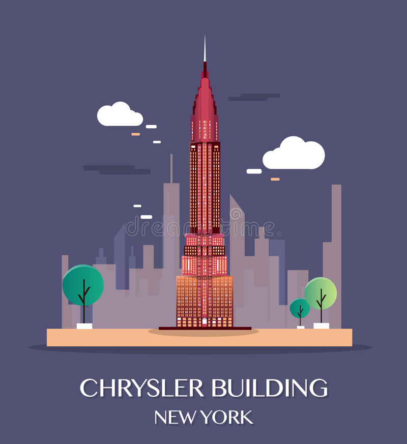 Chrysler Building New York.Vector Illustration. stock illustration